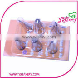 piping nozzles for Dessert Decorators packed in plastic boxes