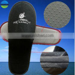 embroidered logo cotton velour double sole hotel slipper