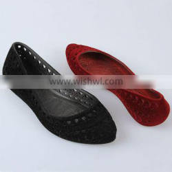 Fashion Flat Sole Flocking Shoes Women Casual Grid Shoes PCU Shallow Flats Flocking Shoes
