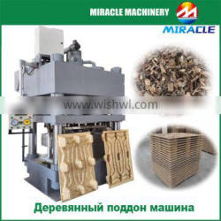 Compressed wooden pallet making machine from wood process line