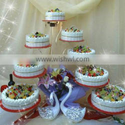 Multi-tier luxurious acrylic cake cake stand for home/party/hotel/banquet/wedding decoration (cake stand 5) Quality Choice