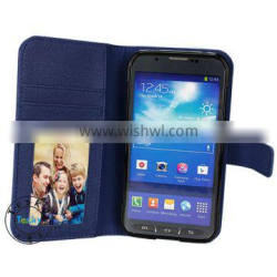 fancy card slot pu leather cell phone holster case for samsung galaxy s5 sport