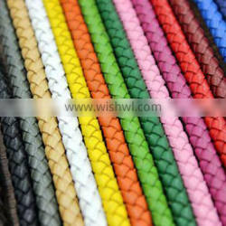 2016 handmade weave real leather 5mm long lanyard / real leather rope