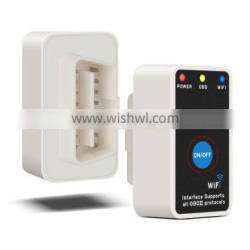 V2.1 Super Mini ELM327 Wifi ELM 327 White OBD2 OBD ii CAN-BUS Diagnostic Tool+Switch Works on Android Symbian Windows