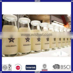 custom logo milk bottle with plastic lid