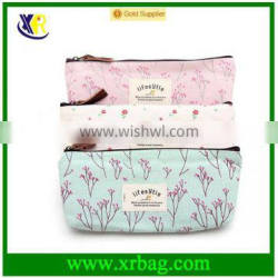 Countryside Flower Floral Cosmetic Makeup Bag Pouch