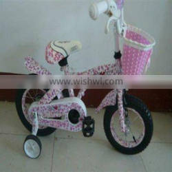 pink Lovely Children Bicycle with inner sticker