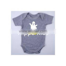 Ghost and Boo baby halloween bodysuit baby girl clothes gray newborn baby rompers