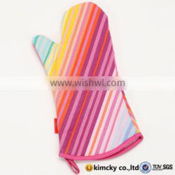custom printed heat resistant double cotton neoprene silicone oven mitt