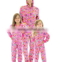 2016 Winter Family Thick Hooded Pajamas With Feet For Adult And Girls