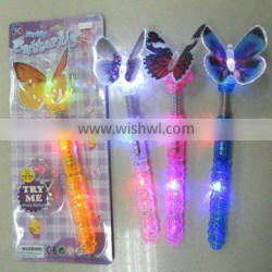 LED Transparent Flashing Butterfly Wand for Kids