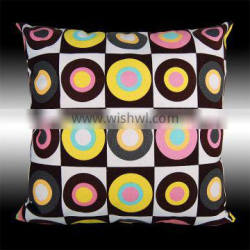 COLORFUL CIRCULARITY CUSHION COVERS THROW PILLOW CASE