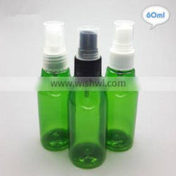 Custom various size pet plastic spray bottle 60ml