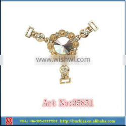 shoes rhinestone chains , metal accessories for clothing,chains for bags