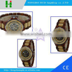 High quality latest quartz wooden watch for mens wrist watches