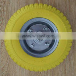 wholesale hot sale durable small size metal rim PU wheel