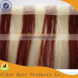Virgin Brazilian Ombre Weave Skin Weft Hair Machine Weft Hair