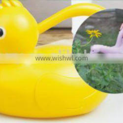 1.4Lsmall yellow duck shape plastic watering can/pot for garden tools