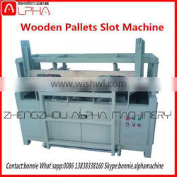 HOT!!automatic wooden pallet notching machine with alloy blades/wood bar notcher
