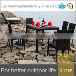 modern square rattan coffee dining table for restaurant