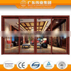 Home Interior wood frame sliding glass door
