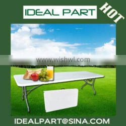Cheap plastic folding table (White 6ft blow mould, HDPE, outdoor,banquet,camping)