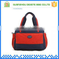 Newest design waterproof polyester colorful customized logo travel bag small
