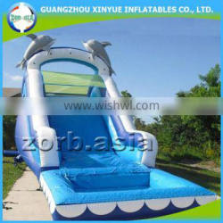 Commercial grade 0.55mm PVC tarpaulin outdoor giant inflatable water slide for adult