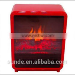 CE certified 13 Inch Electric Compact Mini Fireplace Stove With Thermostat