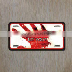 remote car license plate/ car metal plate for decoration