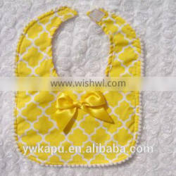 Hot sale lovely cotton plain baby bibs for baby