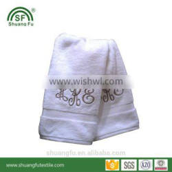 pure cotton embroidered hotel towels with customized name