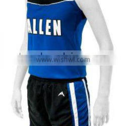 Blue and Black Color Volley Ball Women Uniforms