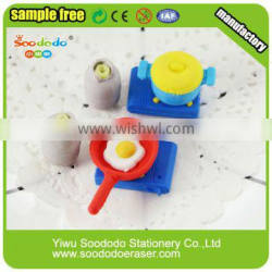 3D Kitchen ware shaped eraser puzzle rubber stationery