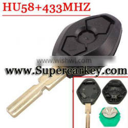 Best Quality 3 Button Remote Key HU58 blade with EWS 433MHZ for BW