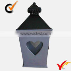 Luckywind vintage wood heart candle lantern