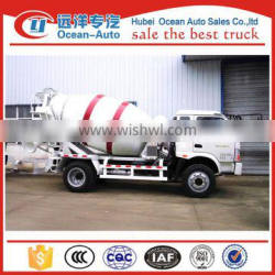 Made in china small right hand drive 3m3 concrete mixer truck