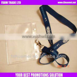 Imprint custom polyester funny lanyard with ID badge holder