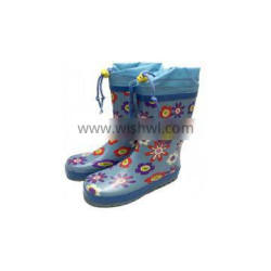 Kids Rubber Rain Boots With Added Top