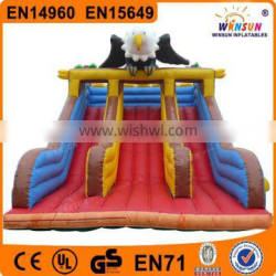2015 selling Happy fun inflatable slides for little kids