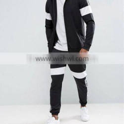 Custom sports clothing contract colors jacket mens tracksuit slim fit