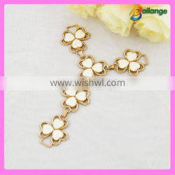 New fashion clover metal shoe ornament for material for decorated sandal