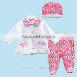 Spring Autumn 3PCS/Set Newborn Infant Baby Boy Girl Suits