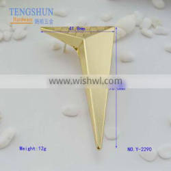 owm zinc alloy decorative corner for purse by manufacturer in China metel tags wholesale