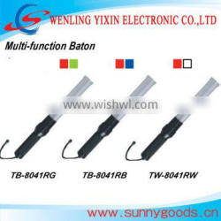 41cm red and blue color flashing traffic signal baton