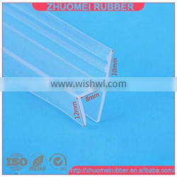 h shape silicone rubber strip for 8mm glass panel