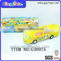 Custom safe material cheap kids funny yellow school bus toy