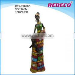 Resin african lady figurine for home decor
