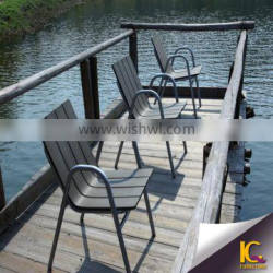 High quality aluminium frame product furniture garden chair wooden patio furniture