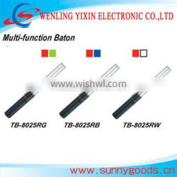 red and green color multi-function traffic baton